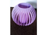 ORIGINAL TRULY RETRO ONLY ONE LOVELY LILICY-GREYISH CEILING OR LAMP SHADE, LIGHTS