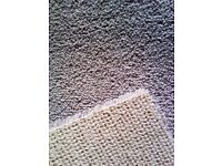BRAND NEW CLEAN CARPET OFF CUT AS A RUNNER OR LONG RUG IN CREAMY GRAYISH COLOUR