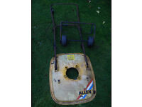 hood , handlebars , and wheel kit Parts for Allen 218 petrol hover mower