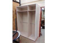 White doorless wardrobe 210 x 150 cm