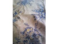 ORIGINAL LAURA ASHLEY MATCHING SET OF TWO LINED CURTAINS AND DOUBLE BED SPREAD PLUS...