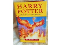 Harry Potter & The Oder of the Phoenix, JK Rowling (Hard Back First Edition: Bloomsbury, 2003.)