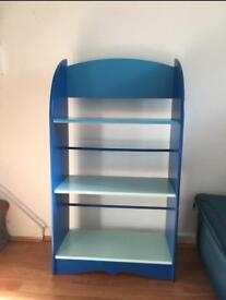 Blue book shelf