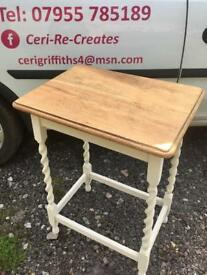 An upcycled Oak barley twist.Hall table/side table/console table
