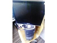 dell pc and monitor keyboard mouse all leads