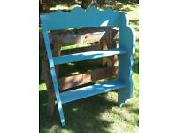 Lovely blue China shelf/ bookshelf