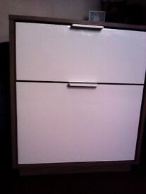 BRAND NEW TRULY LOVELY VERY VERSATILE ORIGINAL CHEST WITH TWO WHITE SOFT CLOSE DRAWS