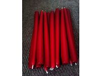 BRAND NEW SET OF 12 VERY GOOD QUALITY RED TAPER CANDLES