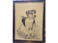 Pollyanna Pickering, Jack Russell Terrier Print, Framed