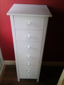 pine painted white drawer