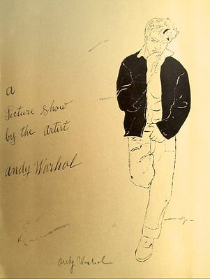 """Andy Warhol """"Golden James Dean"""" Hand Signed print in Black pen with Gallery COA"""