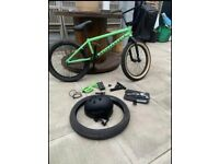2020 We The People Nova Bmx Matte Green Hardly Used Plus Spares And Tools
