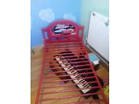 Cars red metal toddler bed