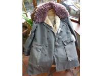 Mats Larssons sheepskin lined Swedish winter coat for men, Large size