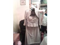 Beautiful (Pewter) John Charles 3 piece Mother of Bride outfit with accessories
