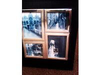 ALMOST BRAND NEW TRULY LOVELY BLACK PHOTO ALBUM WITH FOUR SILVER FRAMED PHOTOS ON IT'S COVER