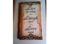 CHRISTMAS GIFT BRAND NEW LOVELY FASHIONABLE VERSATILE HANGING UPLIFTING REMINDER SIGN PLAQUE
