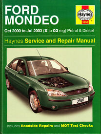 HAYNES FORD MONDEO SERVICE & REPAIR MANUAL 2000 - 2003 PETROL & DIESEL