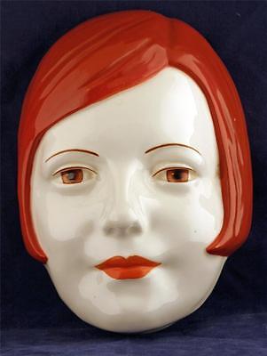 Very Rare Ca. 1930's Doulton Wall Mask of Iconic Swedish Film Star Greta Garbo