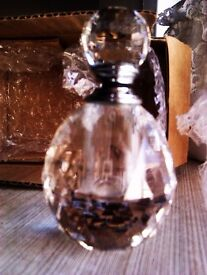 BRAND NEW ORIGINAL REAL VERY GOOD QUALITY SOLID STUNNING CRYSTAL LADY'S PARFUME BOTTLE WITH BOX