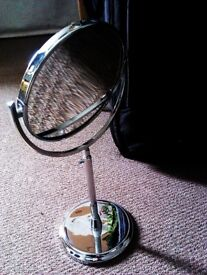 ORIGINAL HARROD'S HIGH QUALITY DRESSING TABLE / MAKE UP DOUBLE SIDED MIRROR ON EXTENDABLE STAND