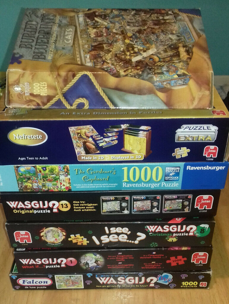 Collection of Adult Jigsaw Puzzles 1000 Pieces Wasgij | in Pontypridd,  Rhondda Cynon Taf | Gumtree