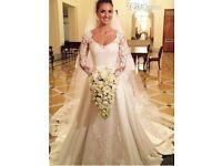 New Gorgeous Wedding dress with veil UK 10