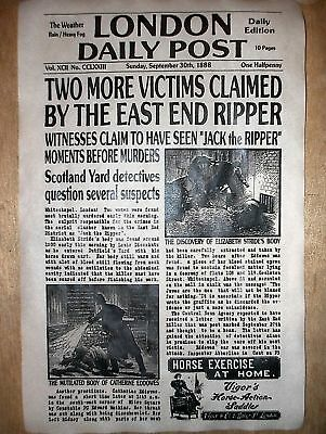 (074) NOVELTY POSTER HALLOWEEN JACK RIPPER LONDON WHITECHAPEL NEWS 18