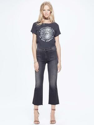 NWT Mother Grey Patch Slacker Crop Fray Best Kept Secret Wash Jeans 24