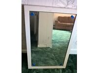 SOLID WOODEN FRAMED MIRROR 750mm x 500mm complete
