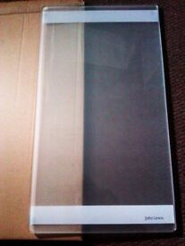 BRAND NEW ORIGINAL JOHN LEWIS STILL IN ORIGINAL BOX SOLID GLASS LONG CHOPPING BOARD
