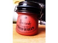 ORIGINAL BRAND NEW VERY GOOD QUALITY REAL TERRACOTTA 'HARRODS' VACUUM JAR