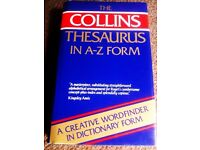 ORIGINAL COLLINS THESAURUS DICTIONARY IN A-Z FORM