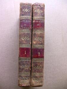 """1827 CATECHISME RELIGION COUTURIER 2V LIVRES BOOKS EVANGILES EGLISES BIBLE DIEU - France - Commentaires du vendeur : """"Bon état avec légres usures"""" - France"""