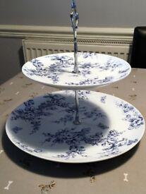 A selection of two tier cake stands to be sold seperately