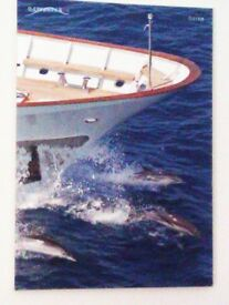 LTD EDITION TRULY LOVELY UPLIFTING LARGE CANVAS PRINT SHIP & DOLPHINS, PICTURE, PRINT, PHOTO
