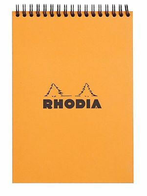 Rhodia Wirebound - Notebook - Orange - Graph - 80 Sheets - 6 X 8.25 - New R16500
