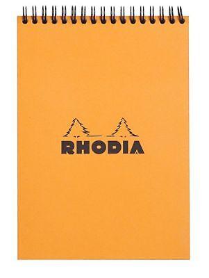 Rhodia Wirebound - Notebook - Orange - Graph - 80 Sheets - 6 X 8.25 - New R16500