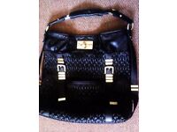 LUXURIOUS AND GREAT MADE ORIGINAL FIORELLI BIG SHOULDER OR HAND BLACK BAG