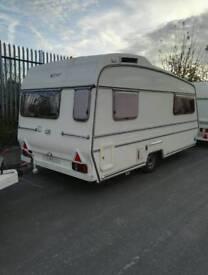 Carlight command 2 berth end kitchen touring caravan 1985