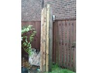 Wood posts 4 number 2.40 meters long x 10 mil square-fencing-beams-supports