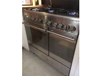 Zanussi 6 Burner Gas Hob & Electric Fan Assisted Double Oven