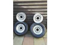Alloys Pepper pop x 4 + 2 good tyres