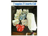 Preloved cloth nappy & inserts bundle