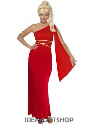 LADIES APHRODITE GREEK GODDESS GRECIAN FANCY DRESS COSTUME WOMENS ADULTS - Grecian Fancy Dress Kostüm