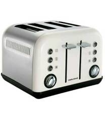 MORPHY RICHARDS Accents 242005 4-Slice Toaster White Warming function