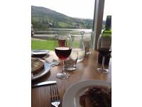 Two waiting staff /bar persons required for Lochside Restaurant