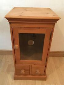 Solid Pine Glass Door Cabinet