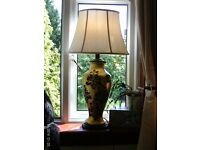 very large tall table lamp & shade, 83 x 43 cm