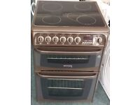 Cannon 60cm double oven electric ceramic cooker
